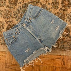 Vintage Levi's 501 hi rise cut off shorts